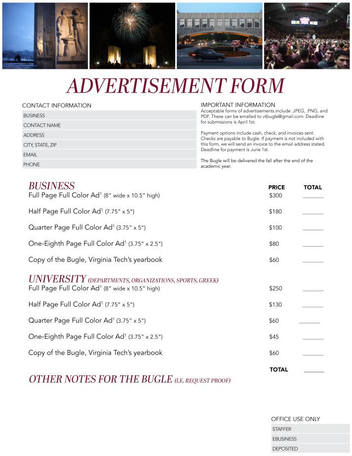 Business Ad Form